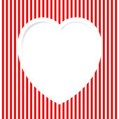 Red Striped Valentine — Stockvektor
