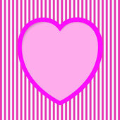 Striped Valentine Card — Wektor stockowy