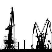 Port Crane Silhouette — Wektor stockowy