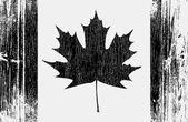 Canadian Flag On A Wood — Stock Vector