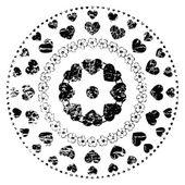 Black And White Ornament — Stock Vector