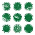Green Grunge Stamp Set — Stock Vector #48087205