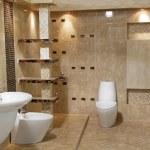 Minimalist modern bathroom style of luxury interior — Stock Photo #13886916