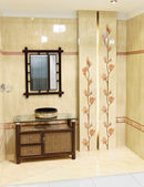 Modern furniture wooden bath, luxury style interior — Stock Photo