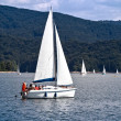 Sailboat at lake — Stock Photo #21595527