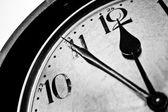 Retro clock time five to twelve — Stock Photo
