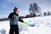 Active boy plays — Стоковое фото