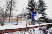 Winter werken — Stockfoto