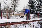 Winter working — Photo