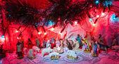 Jesus is born decoration - Christmas scene of Bethlehem religio — Stock Photo