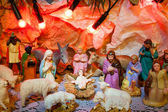 Jesus is born decoration - Christmas scene of Bethlehem religio — Stock Photo
