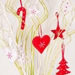 Felt Christmas decorations — Stock Photo