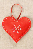 Red Christmas heart — Stock Photo