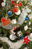 Christmas tree decorations — Foto Stock