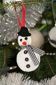 Muñeco de nieve de fieltro — Foto de Stock