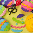 Do it yourself Easter felt decorations — Stock Photo #18331713