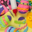 Do it yourself Easter felt decorations - Stock Photo