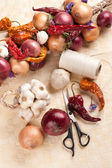 DIT vintage vegetable decoration — Stock Photo