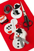 Do it yourself felt snowman — Stok fotoğraf