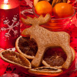 Gingerbread Rudolph — Stock Photo #18429493