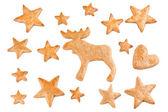 Gingerbread Noel kurabiyeleri — Stok fotoğraf