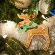 Stock Photo: Gingerbread Rudolph decoration