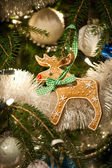 Gingerbread Rudolph decoration — Foto Stock