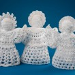 Crochet angels — Stock Photo