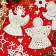 Christmas Crochet Decorations — Stock Photo #38065147