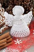 Crochet Christmas Angel — Stock Photo