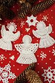 Christmas Crochet Angels — Stock Photo