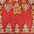 Gingerbread cookies border — Stock Photo