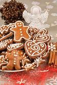 Gingerbread Christmas cookies — Stock Photo