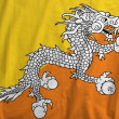 Flag of Bhutan — Stock fotografie