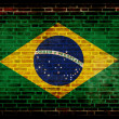 Flag of Brazil painted on a wall — Stock Photo