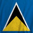 Flag of Saint Lucia — Stock Photo