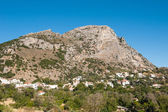 Mountains and a village in Crete — Stock Photo