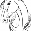 Isolated vector drawing of  horse head — Stock Photo