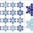 16 snowflakes set — Stock Vector