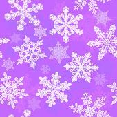 Purple snowflakes seamless — Stock Vector