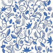 Floral seamlees pattern — Stock Vector