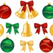 Stock Vector: Set of objects for Christmas decorations