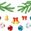 Set of objects for Christmas decorations — Stock Vector #14302887