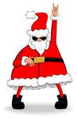 Rocking Santa — Stock Vector