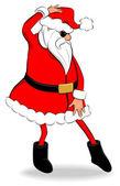 King of Pop Santa — Stock Vector