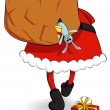 Royalty-Free Stock Vector Image: Santa Claus with a sack