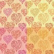 Royalty-Free Stock Vector Image: Hearts seamlees pattern