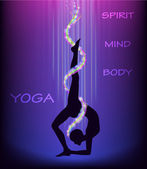Yoga wheel pose. — Stock Vector