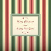Christmas cards with rectangular frame. — Stock Vector