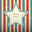 Striped vintage card. — Vector de stock